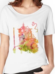 Spirited Away Bath House Watercolor Women's Relaxed Fit T-Shirt