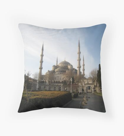 Early morning at Sultanahmet Mosque, Istanbul Throw Pillow
