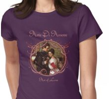 Art of Love in Purple Womens Fitted T-Shirt