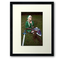 Song of Time Link Cosplay Print Framed Print