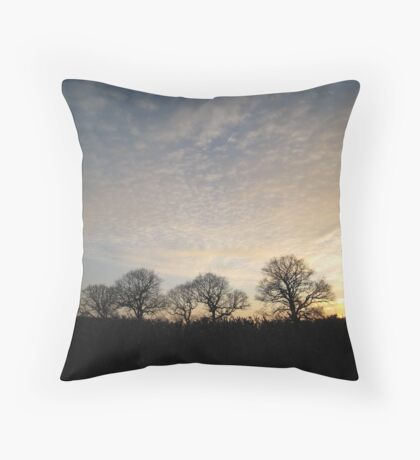 Sunset, East Sussex Throw Pillow