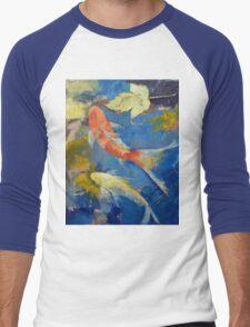 Autumn Koi Garden Men's Baseball ¾ T-Shirt