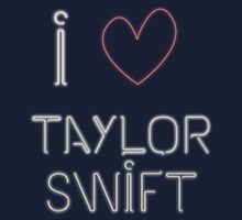 I Love Taylor Swift Kids Tee