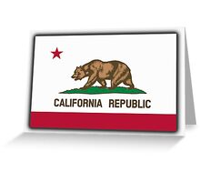 Californian Flag, Flag of California, California Republic, America, The Bear Flag, State flags of America, American, USA Greeting Card
