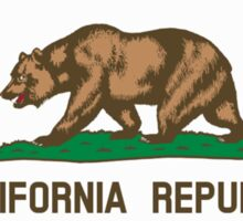 Californian Flag, Flag of California, California Republic, America, The Bear Flag, State flags of America, American, USA Sticker