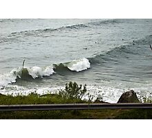 Waves and Surfers Photographic Print