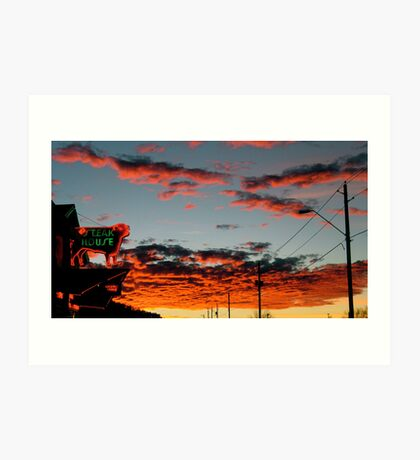 Steakhouse Arizona Sunset by Bradley Blalock Art Print