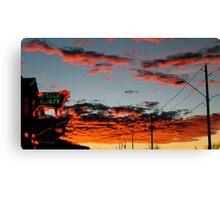 Steakhouse Arizona Sunset by Bradley Blalock Canvas Print