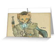 Space Pirate Fox Greeting Card