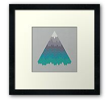 Many Mountains Framed Print
