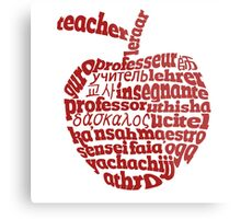 Teacher in world languages apple Metal Print