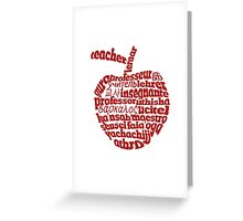 Teacher in world languages apple Greeting Card