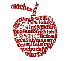 Teacher in world languages apple Photographic Print
