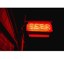 The Beer Signage Photographic Print