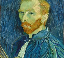 Vincent van Gogh, Self Portrait, 1889, Artist, Painter, Oils, Canvas by TOM HILL - Designer