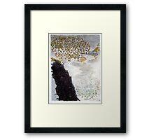 Seen Through the River's Mist Framed Print