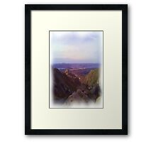 Nature and mountain oil paint Framed Print