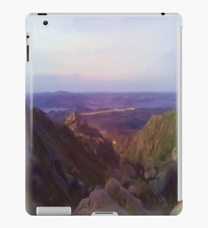 Nature and mountain oil paint iPad Case/Skin