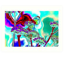 butterfly on verbena Art Print