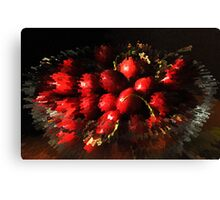 An explosion of cherries Canvas Print