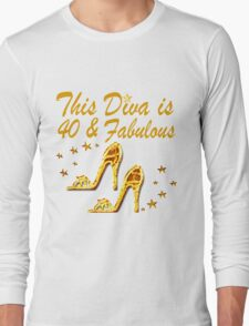 GORGEOUS GOLD 40TH SHOE QUEEN Long Sleeve T-Shirt