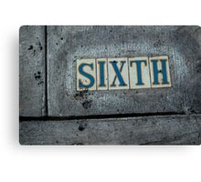 Sixth, type in the wild Canvas Print