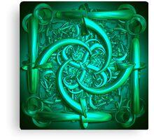 The green sculpture Canvas Print