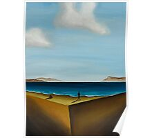 the edge vol.1 16x20 oil on canvas Poster