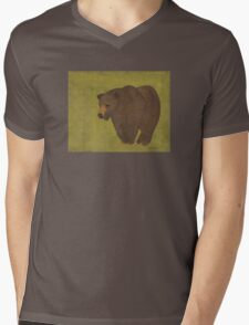 Storybook Bear Mens V-Neck T-Shirt