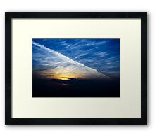 With a bold brush... Framed Print
