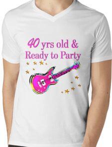 40 YR OLD ROCK STAR Mens V-Neck T-Shirt