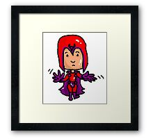 Magneto Erik Cartoon Framed Print