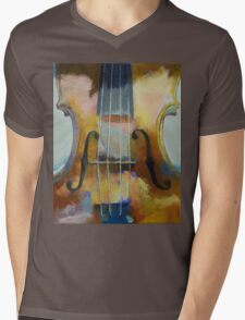 Violin Painting Mens V-Neck T-Shirt