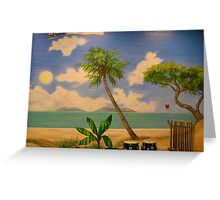 Beach Mural Greeting Card