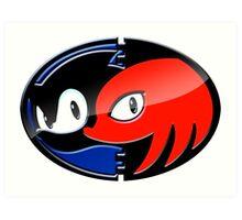 Sonic & Knuckles Art Print