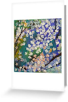 Sakura Oil Painting by Michael Creese