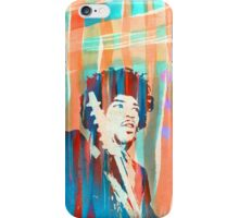 Jimi Hendrix Portrait Psychedelic Sixties by Pepe Psyche iPhone Case/Skin