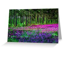 Meadow In Pink And Violet Greeting Card