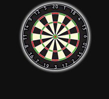 DARTS, Dart Board, Arrows, Target, Bulls eye, Pub, Game, on Black Unisex T-Shirt