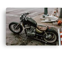 Motorcycle on the street Canvas Print