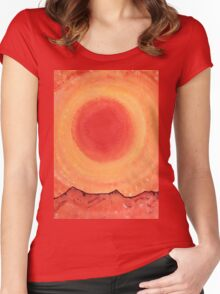 Turn West at the Sun original painting Women's Fitted Scoop T-Shirt