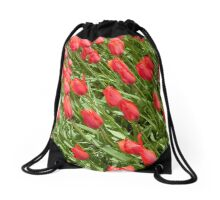 "Single late tulipa ""Temple of Beauty"" Drawstring Bag"