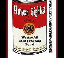 HUMAN RIGHTS POP ART – UNIVERSAL DECLARATION OF HUMAN RIGHTS – ARTICLE 1 by humanrights