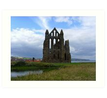 Whitby Abbey, Pond View ~ Whitby, Yorkshire 2008 Art Print