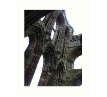 Whitby Abbey, Patchwork Stones ~ Whitby, Yorkshire 2008 Art Print