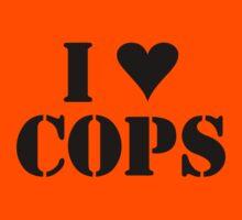 I LOVE COPS Kids Tee