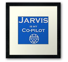 Jarvis is my Co-pilot Framed Print