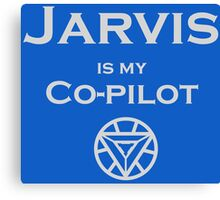Jarvis is my Co-pilot Canvas Print