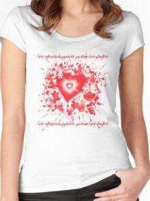 Valentine Burst  Women's Fitted Scoop T-Shirt