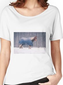 Equine Snowstorm Two Women's Relaxed Fit T-Shirt